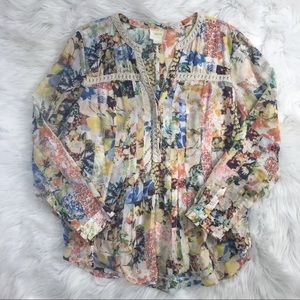Anthropologie Multi Patterned Blouse